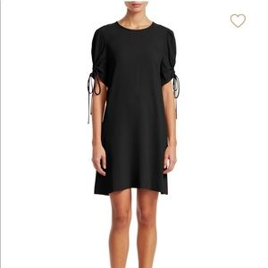 See by Chloé Ruched Sleeve Shift Dress Black